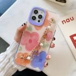 Flower Pattern + Bracelet TPU Phone Protective Case For iPhone 12 Pro Max(Multicolor Big Flower)