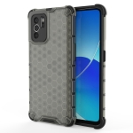 For OPPO Reno6 Z Shockproof Honeycomb PC + TPU Protective Case(Black)