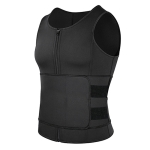 Neoprene Men Sport Body Shapers Vest Waist Body Shaping Corset, Size:XXXL(Black)