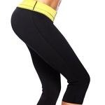 Neoprene Women Sport Body Shaping Shorts Running Fitness Pants, Size:XXXL(Black)