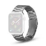 Ultra-thin Three-bead Metal Replacement Strap Watchband For Apple Watch Series 6 & SE & 5 & 4 44mm / 3 & 2 & 1 42mm(Grey)