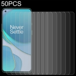 For OnePlus 8T / 8T+ 5G 50 PCS 0.26mm 9H 2.5D Tempered Glass Film