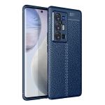 For vivo X70 Pro+ Litchi Texture TPU Shockproof Case(Blue)
