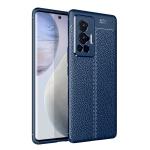 For vivo X70 Pro Litchi Texture TPU Shockproof Case(Blue)