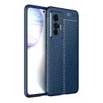 For vivo X70 Litchi Texture TPU Shockproof Case(Blue)