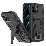 Super V Armor PC + TPU Shockproof Case with Invisible Holder For iPhone 12 Pro(Black)
