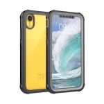 Waterproof Dustproof Shockproof Transparent Acrylic Protective Case For iPhone XR(Black)