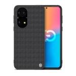 For Huawei P50 NILLKIN 3D Textured Nylon Fiber TPU Case(Black)