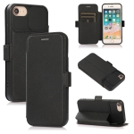 Push Window Double Buckle PU + Silicone Horizontal Flip Leather Case with Holder & Card Slot For iPhone SE 2020 & 8 & 7(Black)