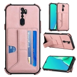 For OPPO A9 2020 / A5 2020 Dream PU + TPU Four-corner Shockproof Back Cover Case with Card Slots & Holder(Rose Gold)