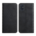 For Samsung Galaxy A51 5G Diamond Pattern Splicing Skin Feel Magnetic Horizontal Flip Leather Case with Card Slots & Holder & Wallet(Black)