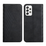 For Samsung Galaxy A72 5G / 4G Diamond Pattern Splicing Skin Feel Magnetic Horizontal Flip Leather Case with Card Slots & Holder & Wallet(Black)