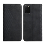For Samsung Galaxy S20+ Diamond Pattern Splicing Skin Feel Magnetic Horizontal Flip Leather Case with Card Slots & Holder & Wallet(Black)