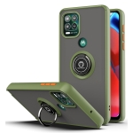 For Motorola Moto G Stylus 5G Q Shadow 1 Series TPU + PC Protective Case with 360 Degrees Rotate Ring Holder(Army Green+Orange)