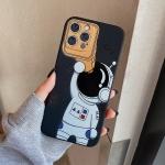 Spaceman Binoculars Shockproof Protective Case For iPhone 12 Pro(Black)