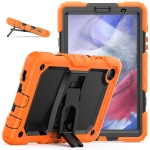 Shockproof Colorful Silica Gel + PC Protective Case with Holder & Shoulder Strap For Samsung Galaxy A7 Lite T220 / T225(Orange)