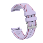 For Samsung Galaxy Watch4 / Watch4 Classic Silicone Stitching Replacement Strap Watchband(Purple Red)