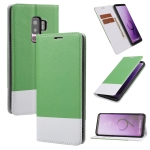 For Samsung Galaxy S9+ Cross Texture Magnetic Horizontal Flip Leather Case with Card Slots & Holder & Wallet(Green)