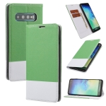 For Samsung Galaxy S10+ Cross Texture Magnetic Horizontal Flip Leather Case with Card Slots & Holder & Wallet(Green)
