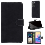 For Xiaomi Redmi 10 Retro Frosted Horizontal Flip PU Leather Case with Holder & Card Slots & Wallet & Photo Frame(Black)