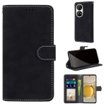 For Huawei P50 Pro Retro Frosted Horizontal Flip PU Leather Case with Holder & Card Slots & Wallet & Photo Frame(Black)