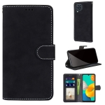 For Samsung Galaxy F22 Retro Frosted Horizontal Flip PU Leather Case with Holder & Card Slots & Wallet & Photo Frame(Black)