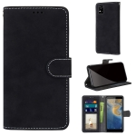 For ZTE Blade A31 Retro Frosted Horizontal Flip PU Leather Case with Holder & Card Slots & Wallet & Photo Frame(Black)