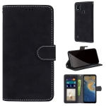 For ZTE Blade A51 Retro Frosted Horizontal Flip PU Leather Case with Holder & Card Slots & Wallet & Photo Frame(Black)