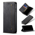 Denim Texture Casual Style Horizontal Flip Leather Case with Holder & Card Slots & Wallet For iPhone 13 Pro Max(Black)