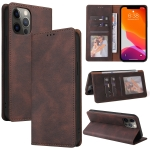 Simple Suction Closure Horizontal Flip Leather Case with Holder & Card Slot & Wallet For iPhone 12 mini(Brown)
