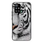 For Xiaomi Redmi 10 Tempered Glass + TPU Border Protective Case(White Tiger)