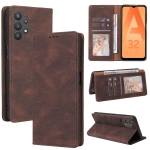 For Samsung Galaxy A32 5G Simple Suction Closure Horizontal Flip Leather Case with Holder & Card Slot & Wallet(Brown)