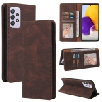 For Samsung Galaxy A72 5G / 4G Simple Suction Closure Horizontal Flip Leather Case with Holder & Card Slot & Wallet(Brown)