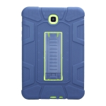 For Samsung Galaxy Tab A 8.0 2015 C5 Four Corners Shockproof Silicone + PC Protective Case with Holder(Navy Blue + Lemon Yellow)