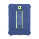 For Samsung Galaxy Tab S2 8.0 T710 C5 Four Corners Shockproof Silicone + PC Protective Case with Holder(Navy Blue + Lemon Yellow)