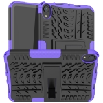 Tire Texture TPU + PC Shockproof Case with Holder For iPad mini 6(Purple)