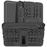 Tire Texture TPU + PC Shockproof Case with Holder For iPad mini 6(Black)