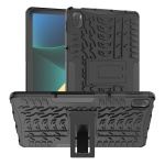 Tire Texture TPU + PC Shockproof Case with Holder For Xiaomi Pad 5 / 5 Pro(Black)