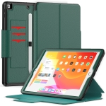 Litchi Texture Horizontal Flip PU Leather Case with Holder & Card Slots & Sleep / Wake-up Function & Pen Slot For iPad 10.2 2021 / 2020 / 2019(Green)