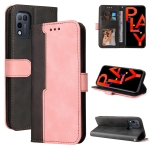 For Infinix Hot 10 Play Business Stitching-Color Horizontal Flip PU Leather Case with Holder & Card Slots & Photo Frame(Pink)