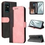 For Infinix Note 8 Business Stitching-Color Horizontal Flip PU Leather Case with Holder & Card Slots & Photo Frame(Pink)