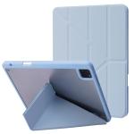 Deformation Transparent Acrylic Horizontal Flip PU Leather Case with Multi-folding Holder & Sleep / Wake-up Function & Pen Slot For iPad Pro 11.0 2021 / 2020 / 2018(Baby Blue)