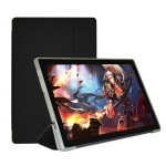 For Teclast M40 Pro Horizontal Flip PU Leather Case with Holder(Black)