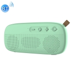 NewRixing NR-4012 TWS Fresh Style Splashproof Mesh Bluetooth Speaker with Leather Buckle(Green)