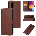 For Samsung Galaxy S20 Calf Texture Buckle Horizontal Flip Leather Case with Holder & Card Slots & Wallet(Brown)
