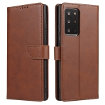 For Samsung Galaxy Note20 Calf Texture Buckle Horizontal Flip Leather Case with Holder & Card Slots & Wallet(Brown)