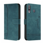 For Samsung Galaxy A20s Retro Skin Feel Horizontal Flip Soft TPU + PU Leather Case with Holder & Card Slots & Photo Frame(Army Green)