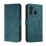 For Samsung Galaxy A21 US Version Retro Skin Feel Horizontal Flip Soft TPU + PU Leather Case with Holder & Card Slots & Photo Frame(Army Green)