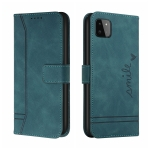 For Samsung Galaxy A22 5G Retro Skin Feel Horizontal Flip Soft TPU + PU Leather Case with Holder & Card Slots & Photo Frame(Army Green)