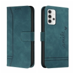For Samsung Galaxy A32 4G Retro Skin Feel Horizontal Flip Soft TPU + PU Leather Case with Holder & Card Slots & Photo Frame(Army Green)